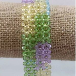 Jewelry - Rare Multi Color Stone 925 Sterling Bracelet Sweet